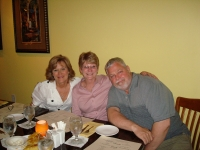 Bonnie Harrell Lee, Debbie Booher Busch & Mike Busch. Mike & Debbie were here for a visit from Laramie, Wyoming.