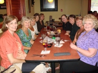 From left, Gail Tabor McCoy, Helen Zeiler Maxson, Bonnie Harrell Lee, Marilyn Cole Olivio, Sara Walker Dubbeld, Brenda T