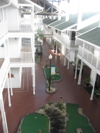 A view from inside the atrium of Holiday Inn Harborside
