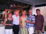 Bonnie Harrell Lee, Richard Neefe, Kristi Rifenburg with husband Dick Redmond, Barry Duncan