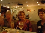 You were moving...sorry you are blurred Helen!...Helen Zeiler Maxson, Bonnie Harrell Lee & Marilyn Cole Olivio at the sa