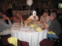 Dennis & Carolyn Peck Sullivan, Gaire Clark behind table number, Richard Neefe, Barry Phipps