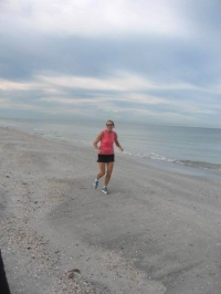 ....and a beach run!