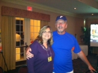 Sue Moore Ray with husband David, who just came in from the Gator win in Gainesville!